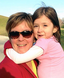 Carol Bialkowski and daughter